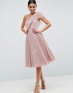 ASOS Occasionwear - Tulle One Shoulder Dress | Just A Tina Bit