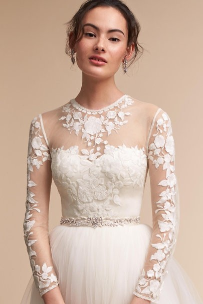 21 ridiculously stunning long sleeved wedding dresses if your appetite for apparel has been suitably whet why not go ahead and get your drool on all over these 13 steamy backless wedding dresses which are junglespirit Choice Image