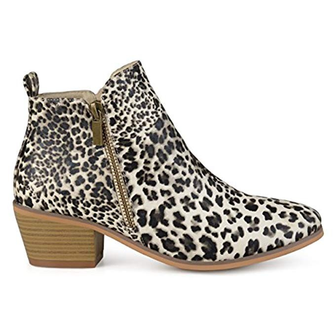 Affordable leopard booties