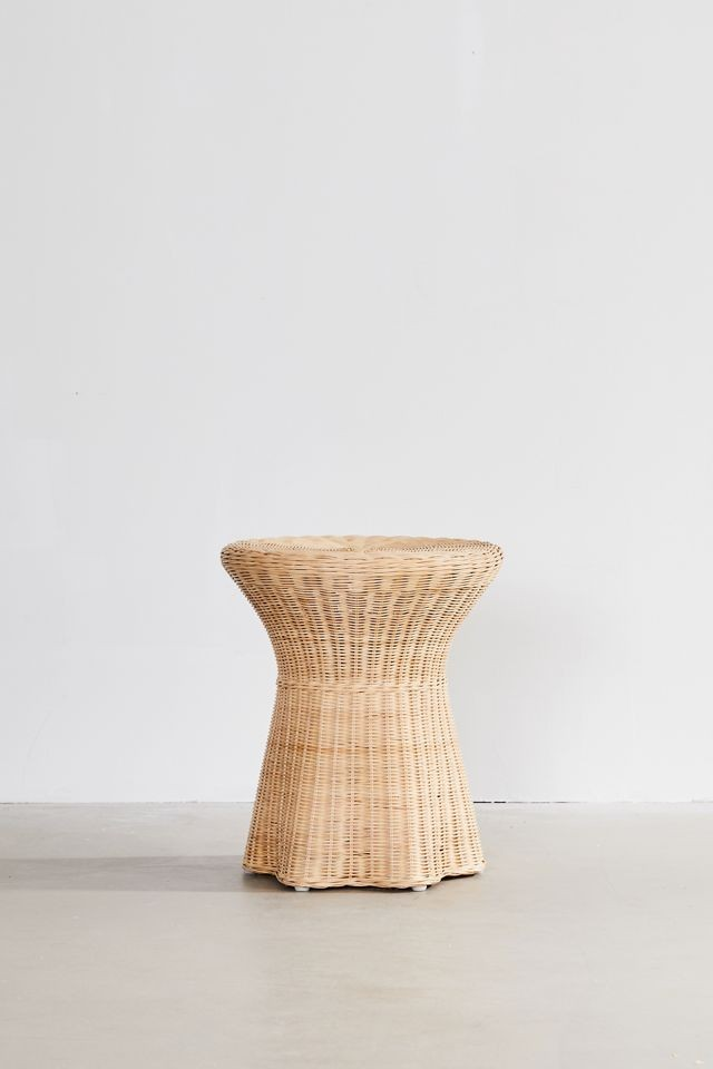 wicker and rattan table