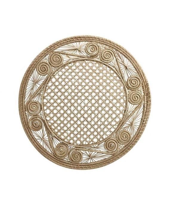 wicker and rattan accents table decoration