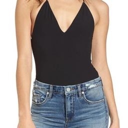 Women's Afrm Strappy Thong Bodysuit, Size Large - Black | Nordstrom