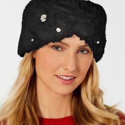 I.n.c. Embellished Faux-Fur Headband, Created for Macy's | Macys (US)