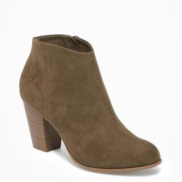 Old Navy Womens Sueded Block-Heel Booties For Women Oregon Trail Size 10   Old Navy US