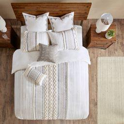 Full/Queen 3pc Imani Cotton Duvet Cover Mini Set Ivory, Adult Unisex, White | Target