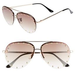 Women's Prive Revaux The Sixth Man 60Mm Studded Aviator Sunglasses -   Nordstrom