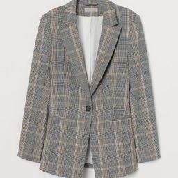 H & M - Checked Blazer - Gray   H&M (US)