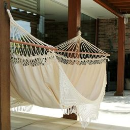 Handcrafted Cotton 'Tropical Nature' Single Hammock (Brazil)   Overstock