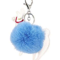 Blue Llama Pom-Pom Purse Charm | Zulily