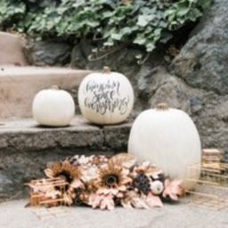 Custom Calligraphy White Craft Pumpkin, Holiday Pumpkin, White Pumpkin Decor | Etsy (US)