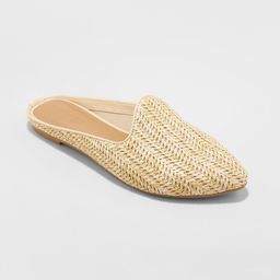 Women's Violet Woven Backless Mules - Universal Thread Tan 6   Target