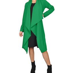 Green Cascade-Front Jacket - Women & Plus | Zulily