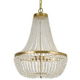 "Crystorama Lighting Group 608 Rylee 6 Light 18"" Wide Beaded Chandelier with Crys | Build.com, Inc."