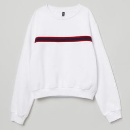 H & M - Short Sweatshirt - White   H&M (US)