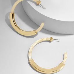 Tassiana Resin Hoop Earrings-Ivory | BaubleBar (US)