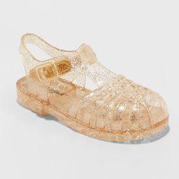 Toddler Girls' Cappi Jelly Sandals - Cat & Jack Gold S   Target