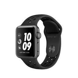 AppleWatch Nike Series 3 GPS, 38mm Space Gray Aluminum Case with Anthracite/Black Nike Sport Band | Apple (US)