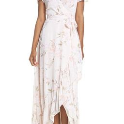Women's Wayf The Natasha Floral Wrap Maxi Dress | Nordstrom
