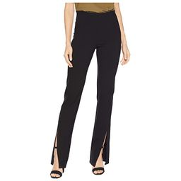 Liverpool Reese High-Rise Straight Front Slit in Super Stretch Ponte Knit (Black) Women's Casual Pants | Zappos
