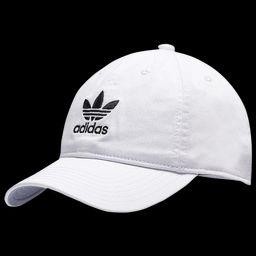 Womens adidas Originals Relaxed Strapback Hat - White/Black | Footlocker US