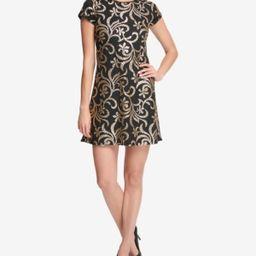 kensie Sequined Scroll T-Shirt Dress   Macys (US)