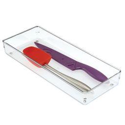iDesign® Linus Acrylic 6-Inch x 15-Inch Drawer Organizer   Bed Bath & Beyond
