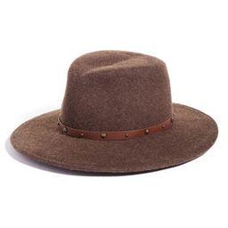 Women's Eric Javits Karli Wool Felt Wide Brim Hat - Brown | Nordstrom