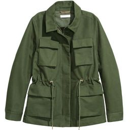 H & M - Cotton Cargo Jacket - Green | H&M (US)