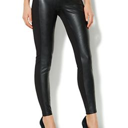 Soho Faux-Leather Panel Legging | New York & Company