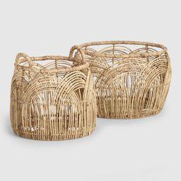 Natural Rattan Open Weave Iris Baskets - Large by World Market Large   World Market