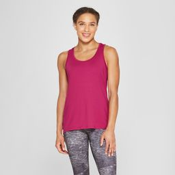 Women's Semi-Fitted Long Racer Tank Top - C9 Champion Berry (Pink) XS | Target