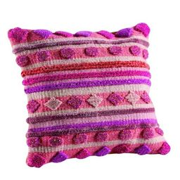 Hand-woven Indo Elda Pink Pillow (24-inch x 24-inch) (As Is Item) | Overstock