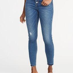 High-Rise Secret-Slim Pockets Button-Fly Rockstar Ankle Jeans for Women   Old Navy US