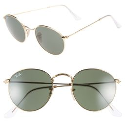 Ray-Ban Icons 50Mm Round Metal Sunglasses - | Nordstrom