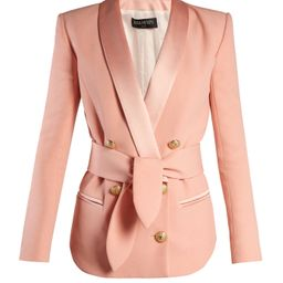 Double-breasted belted crepe blazer | Matchesfashion (Global)