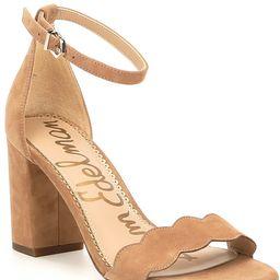 Sam Edelman Odila Suede Ankle Strap Block Heel Dress Sandals | Dillards Inc.