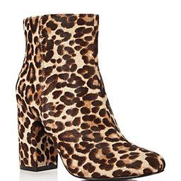 Charles David Studio Leopard Print Calf Hair Block Heel Booties | Bloomingdale's (US)