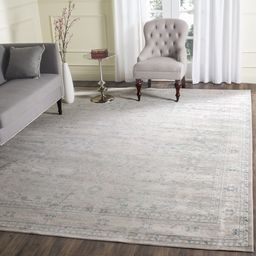 Safavieh Archive Vintage Grey/ Blue Distressed Area Rug - 5' x 5' Square | Overstock