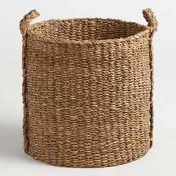Large Natural Seagrass Jade Tote Basket by World Market | World Market