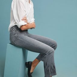 MOTHER The Insider High-Rise Frayed Ankle Jeans   Anthropologie (US)