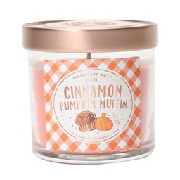 4oz Small Lidded Jar Candle Cinnamon Pumpkin Muffin - Signature Soy | Target