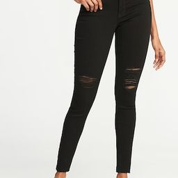 Mid-Rise Raw-Edge Rockstar Ankle Jeans for Women   Old Navy US