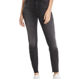 Looker High-Waist Ankle Fray Skinny Jeans | Neiman Marcus