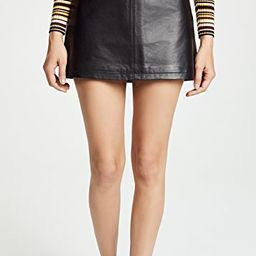 Marrie Leather A-Line Skirt | Shopbop