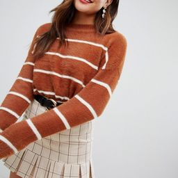 New Look Fluffy Stripe Sweater | ASOS US