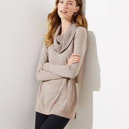 Cowl Neck Tunic Sweater   LOFT   LOFT