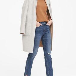 Petite Skinny Zero Gravity Ankle Jean with Asymmetrical Fray Hem | Banana Republic US