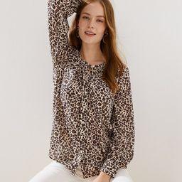 Leopard Print Blouse | LOFT | LOFT