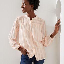 Textured Stripe Blouse | LOFT | LOFT