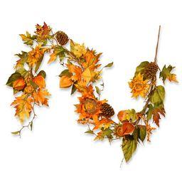 Harvest Sunflower Garland   Wayfair North America